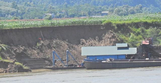 Sơn Dương (Tuyên Quang): Khai thác cát rầm rộ, ruộng đồng teo tóp