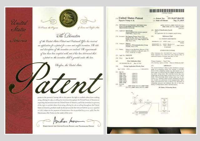 Hệ thống tính cước của Viettel được cấp bằng bảo hộ độc quyền tại Mỹ