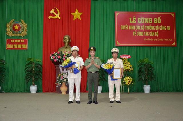 Công an Bình Thuận có thêm hai tân Phó Giám đốc