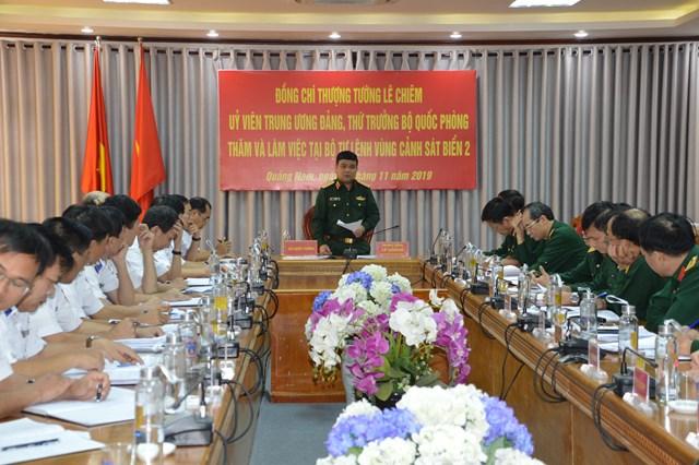Thứ trưởng Bộ Quốc phòng làm việc tại Bộ Tư lệnh Vùng CSB 2