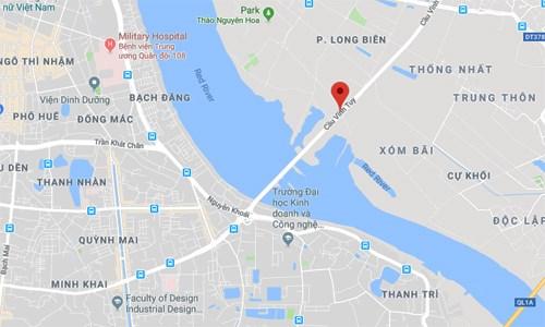 Cháy lớn kèm tiếng nổ cạnh chân cầu Vĩnh Tuy, một người chết - 2