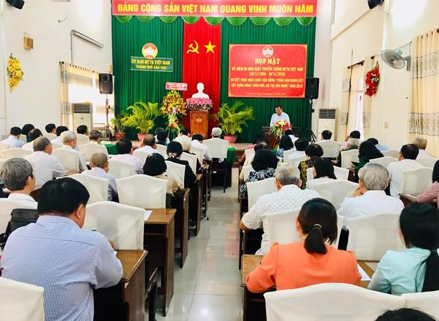 Cần Thơ họp mặt 89 năm ngày truyền thống Mặt trận