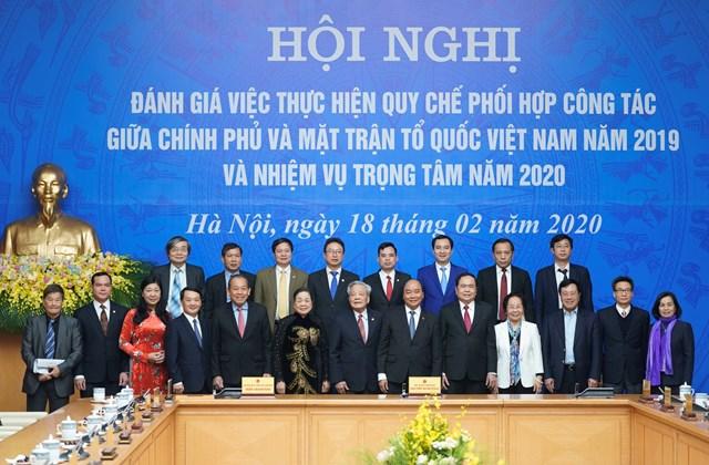 BẢN TIN MĂT TRẬN: Hội nghị thường niên đánh giá việc thực hiện quy chế phối hợp công tác giữa Chính phủ và MTTQ Việt Nam