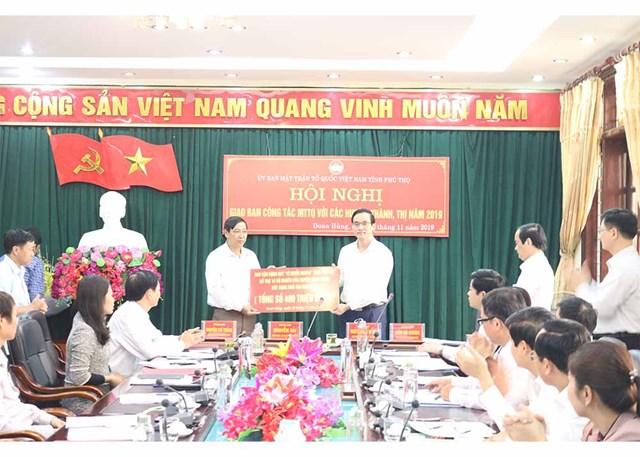 Phú Thọ: Hơn 10 tỷ đồng ủng hộ Quỹ vì người nghèo và an sinh xã hội