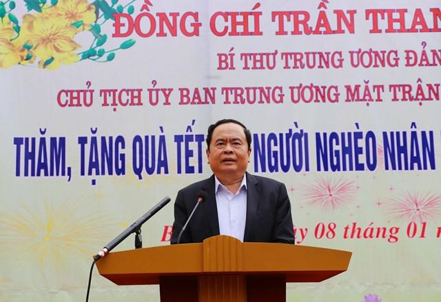 BẢN TIN MẶT TRẬN: Chủ tịch Trần Thanh Mẫn thăm và trao quà cho các hộ nghèo, gia đình chính sách nhân dịp Tết Nguyên đán