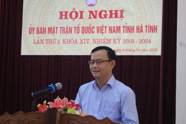 MTTQ tỉnh Hà Tĩnh bàn thảo công tác Mặt trận khóa mới