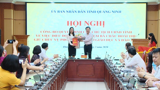 Quảng Ninh bổ nhiệm Phó Giám đốc Sở Giáo dục và Đào tạo