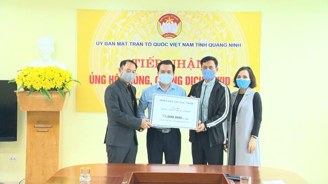 Hội Golf Quảng Ninh ủng hộ 75 triệu đồng phòng, chống dịch Covid-19