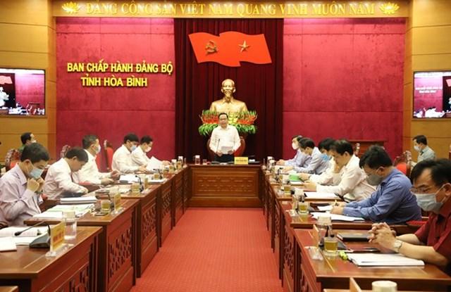 Vượt qua khó khăn về dịch bệnh, tổ chức Đại hội Đảng bộ theo đúng tiến độ đề ra - 4