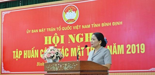 Bình Định: Tập huấn công tác Mặt trận năm 2019 - 1