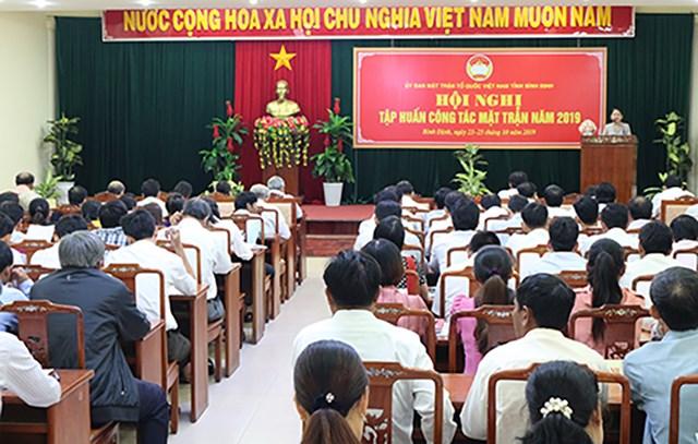 Bình Định: Tập huấn công tác Mặt trận năm 2019