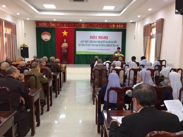 Thừa Thiên - Huế: Quán triệt Nghị quyết Ðại hội MTTQ Việt Nam lần thứ IX