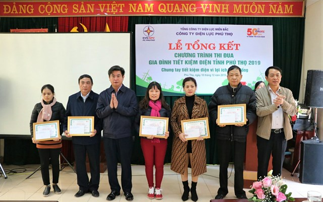 Tuyên dương 90 gia đình Tiết kiệm điện tại tỉnh Phú Thọ