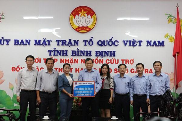 Bình Định: Tiếp nhận ủng hộ đồng bào bị thiệt hại trong cơn bão số 5