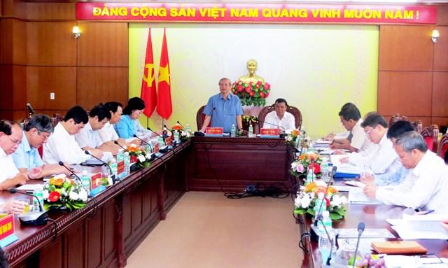 Thường trực Ban Bí thư Trần Quốc Vượng làm việc tại tỉnh Đắk Lắk