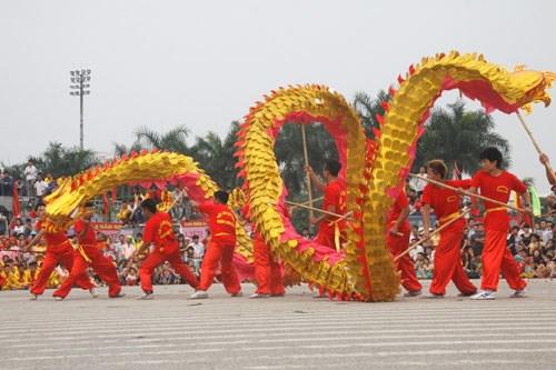 15 quận, huyện sẽ tham dự Liên hoan múa Rồng Hà Nội 2019