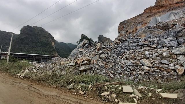 Doanh nghiệp khai thác đá, tính mạng người dân bị đe doạ