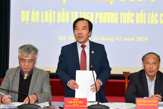 BẢN TIN MẶT TRẬN: Phó Chủ tịch Ngô Sách Thực chủ trì Hội nghị góp ý Dự án Luật Đầu tư