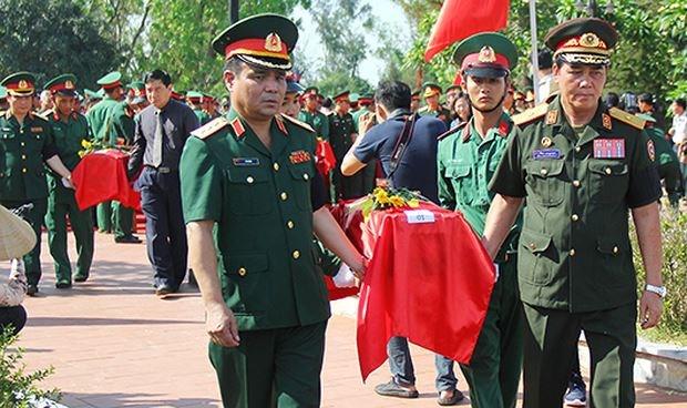 Nghệ An tổ chức truy điệu, an táng 98 hài cốt liệt sỹ hi sinh tại Lào - 1