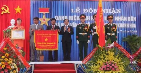 Xã Ninh Vân đón nhận danh hiệu Anh hùng Lực lượng vũ trang nhân dân - 1