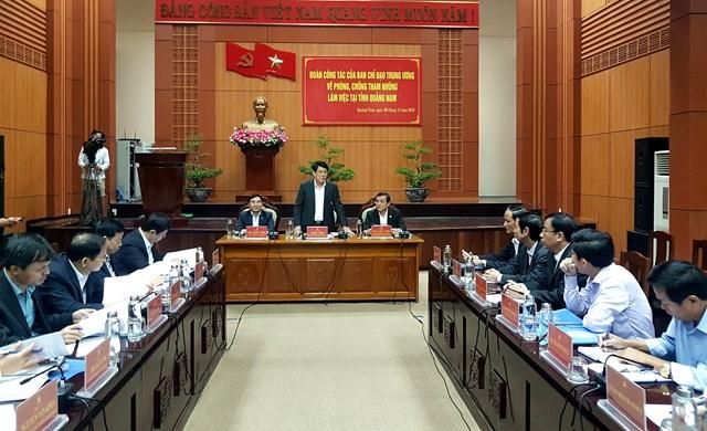 Quảng Nam: Không có tham nhũng xảy ra ở mức độ nghiêm trọng