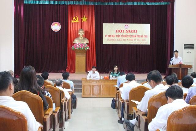 MTTQ tỉnh Hà Tĩnh bàn thảo công tác Mặt trận khóa mới - 1