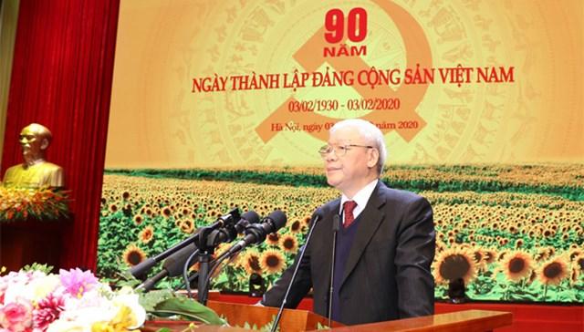 Diễn văn của Tổng Bí thư, Chủ tịch nước tại Lễ kỷ niệm 90 năm Ngày thành lập Đảng