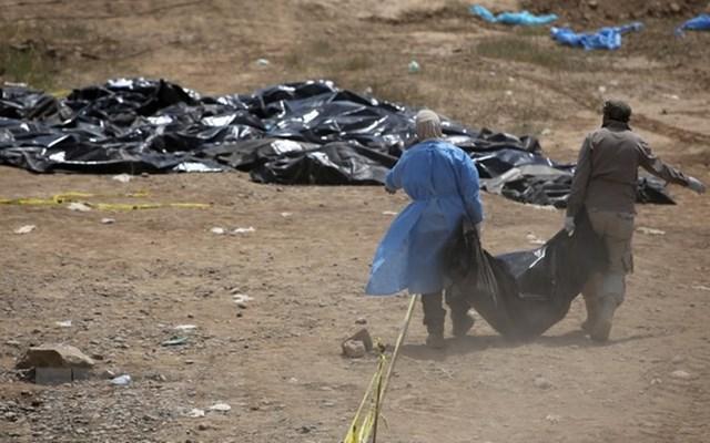 Phát hiện 158 thi thể trong một hố chôn tập thể ở Tikrit, Iraq