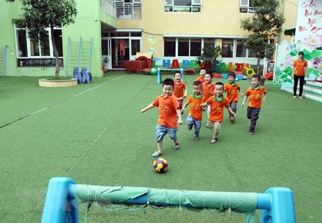 Nhiều trường mầm non ở Hà Nội đang trong tình trạng quá tải