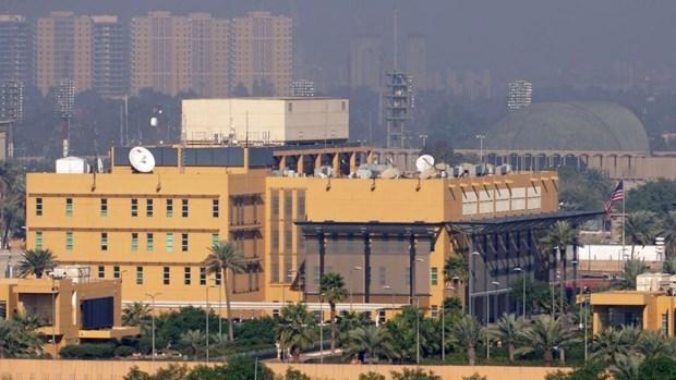 Iraq: 3 quả rocket rơi gần Đại sứ quán Mỹ tại Baghdad