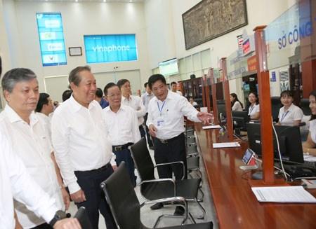 Phó Thủ tướng kiểm tra công tác cải cách hành chính tại Sơn La - 1