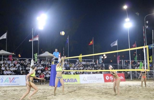 Khai mạc Giải Bóng chuyền bãi biển nữ Châu Á năm 2019 - 1