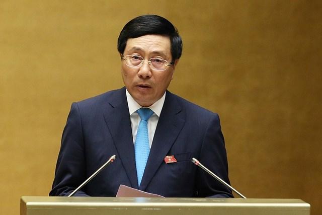 Phó Thủ tướng Phạm Bình Minh 'đăng đàn' trả lời nhiều chất vấn 'nóng' - 2