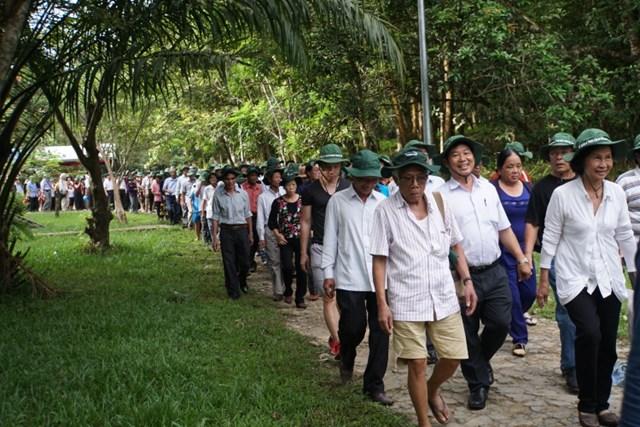 Quảng Nam: Hơn 400 cựu chiến binh về thăm Căn cứ Khu ủy Khu 5