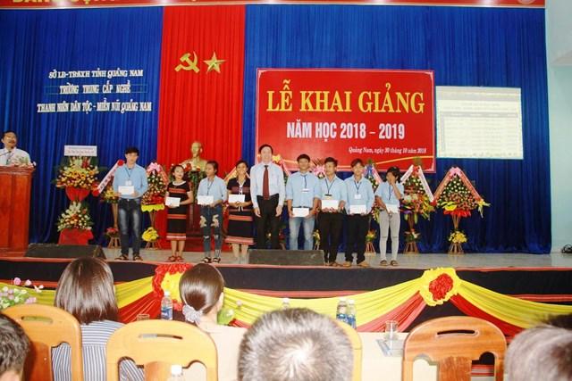 Trường Trung cấp nghề Thanh niên Dân tộc - Miền núi Quảng Nam khai giảng năm học mới - 1