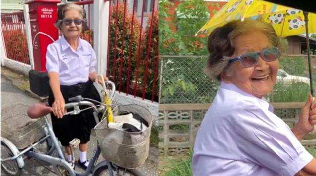 Cụ bà 84 tuổi đạp xe tới trường dự kỳ thi lớp 6