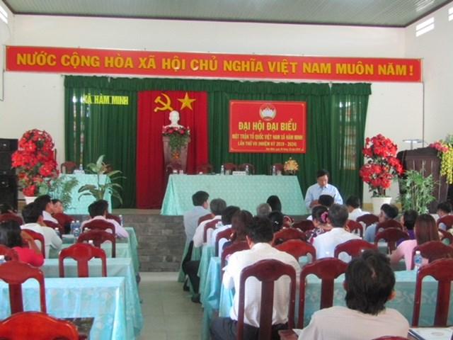MTTQ xã Hàm Minh (Bình Thuận) tổ chức Đại hội điểm