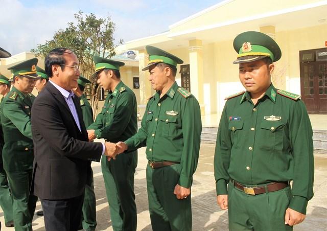 Mặt trận Quảng Nam thăm, chúc Tết các đồn Biên phòng