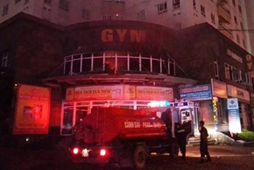 Cháy phòng tập gym, dân chung cư hoảng loạn