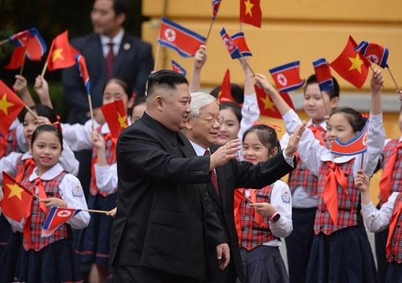 [ẢNH] Tổng Bí thư, Chủ tịch nước Nguyễn Phú Trọng đón, hội đàm với Chủ tịch Kim Jong-un - 2