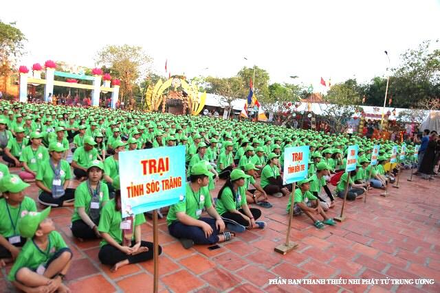 Hơn 1.500 thanh thiếu niên ĐBSCL tham gia hội trại 'Tuổi trẻ & Phật giáo' lần thứ 13