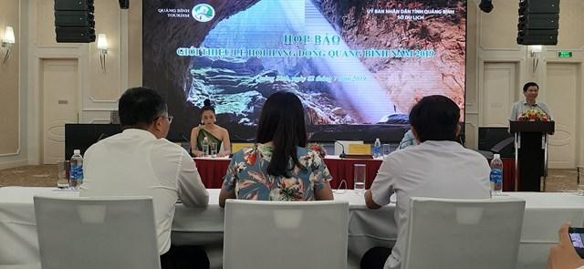 Hoa hậu Tiểu Vy là đại sứ hình ảnh tại Lễ hội hang động Quảng Bình 2019