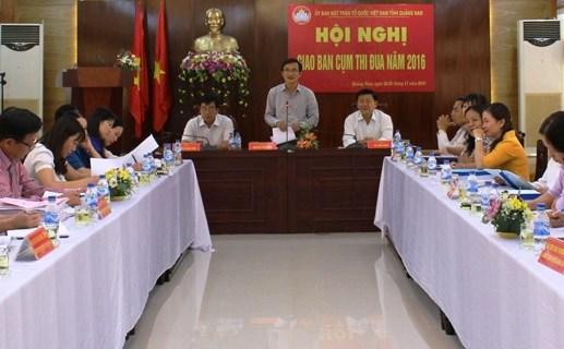 MTTQ Quảng Nam: giao ban cụm thi đua đồng bằng năm 2016