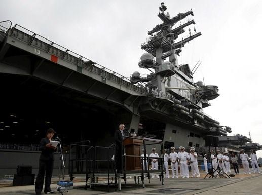 Mỹ đưa tàu sân bay mới đến đồn trú tại Nhật Bản
