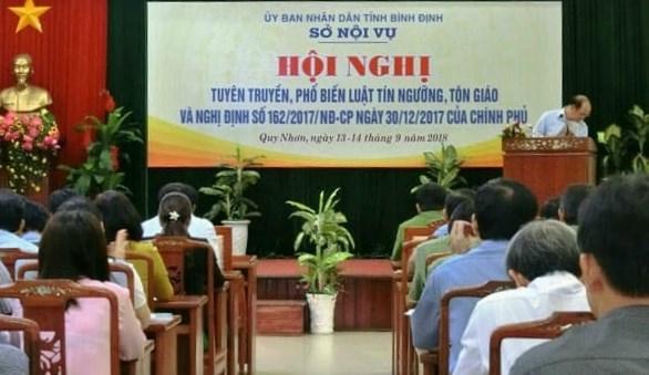 Hội nghị tuyên truyền, phổ biến Luật tín ngưỡng, tôn giáo