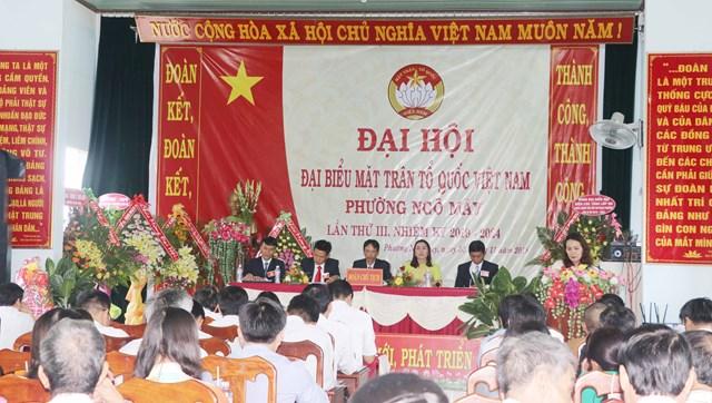Đại hội điểm Mặt trận Tổ quốc Việt Nam phường Ngô Mây
