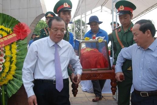 Quảng Bình: An táng 35 hài cốt liệt sỹ hy sinh tại Lào - 1