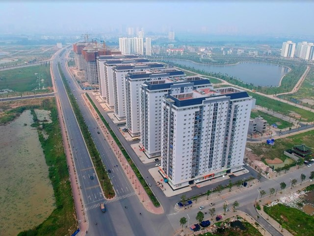 Toàn cảnh tuyến đường Xa La - Nguyễn Xiển qua Khu đô thị Mường Thanh Thanh Hà - 2