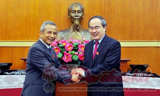 Tổng LĐLĐ Việt Nam chúc mừng 85 năm Ngày truyền thống MTTQ Việt Nam