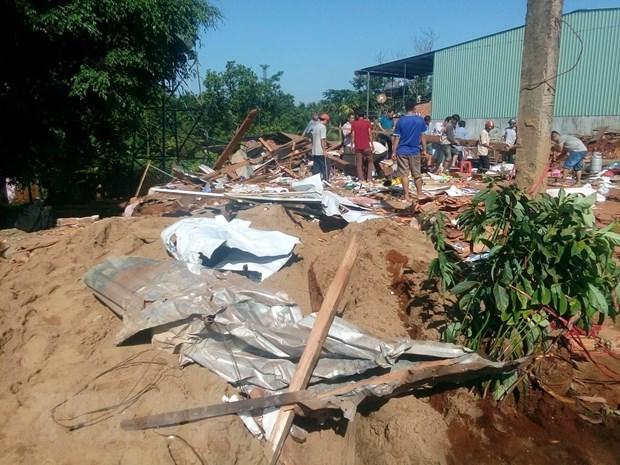 Bình Phước: Xe ben đâm sập nhà dân ở ven đường, 2 vợ chồng thiệt mạng